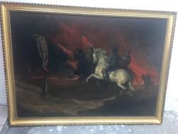 Eladó nagyméretű antik olaj festmény !