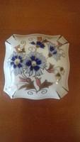 Zsolnay búzavirág mintás bonbonier  -   kisebb