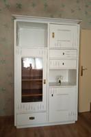 Szecessziós vintage fehér levendulamintás szekrény