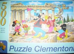 Két régi Disney puzzle-k Clementoni, Trefl 500 ill. 1000 db-os