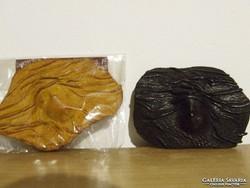 Zajácz Tamás bőrműves iparművész által készített kitűzők, brossok-500,-Ft/db