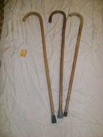 Régi görbebot, sétabot - három darab