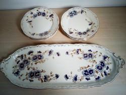 Zsolnay  6 személyes süteményes készlet 1.