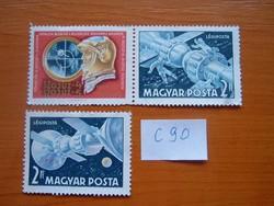 """2 FORINT 1969 """"Soyuz 4"""" és """"Soyuz 5"""" űrkapszulák 3 DB  C90"""
