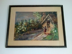 Ádámffy László (1902-?) akvarell festménye 1.