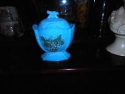 Antik kalcedon üvegből  cukortartó