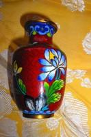 Tűz zománc-Rekesz zománc (Cloissoné) kis váza