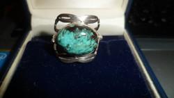 Ezüst gyűrű / krizokolla