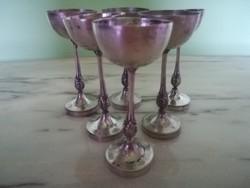 1930-as ezüst 6 személyes vadász poharak
