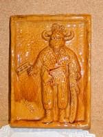 Régi Rusói Karcag kerámia falikép:Busó.