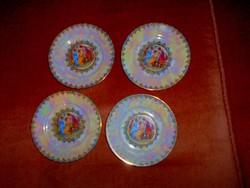 4 db Drasche lüszteres antik jelenetes   süteményes  tányér 900 Ft/ db