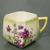 Ibolyamintás fajansz csésze (790)