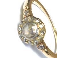Antik Arany Gyűrű Margaréta Gyémántok XIX. sz.