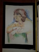 Nagyméretű női portré