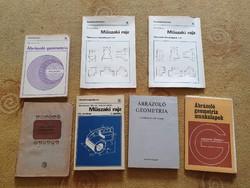 Műszaki, geometria könyvek