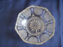 Antik üveg kínáló tálka 12,5 x 5 cm