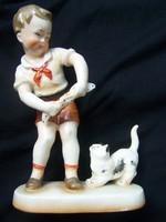 Cicával játszó kisfiú - R HEINZ Co. NEUHAUSER