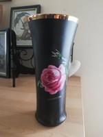Kaiser fekete rózsás váza