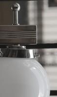 Bauhaus - Art deco falikar tejüveg gömb búrával - felújítva - Lampart