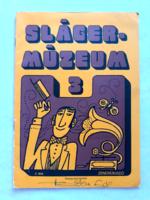 Slágermúzeum 3 régi kotta retro kottafüzet