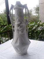 Royal Dux Óriási letisztult nyers festetlen szecesszios váza