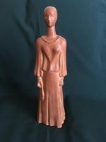 Osváth Mária terrakotta szobor 37 cm