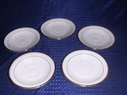 Kínai porcelán arany szélű csészealátét  5 db 12 cm (2p)