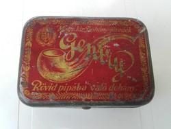 Gentry rövid pipába való dohány doboz, szelence, 1925.