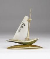0X613 Kagylóhéj balatoni emlék vitorláshajó