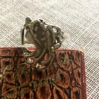 Antik ezüst szecessziós gyűrű