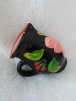 Kézzel festett mini kerámia kancsó