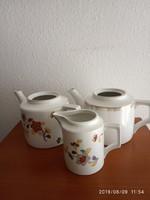 Zsolnay teáskanna és kiöntő