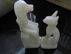 Egyiptomi kutya-macska páros szfinx jade