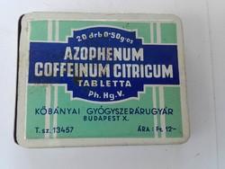Azophenum Coffeinum Citricum tabletta fém doboza cca.1910.-20