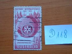 AUSZTRÁLIA 3 1/2 P 1955 A Rotary International 50. évfordulója  D118