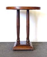 0X915 Antik szecessziós, oszlopos körasztal
