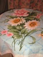 Csodaszép vintage virágos nagy méretű törölköző