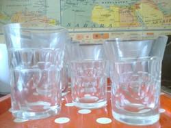 Nehéz ólomkristály v. ólömüveg poharak, kb. 1930