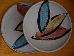 Angol különlegeség, művészeti stúdió retro tányér, tál pár