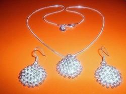 Csillag Gömb 925 ezüst - fehérarany ÉkszerSzett