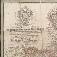 Osztrák- Magyar Monarchia térképe 1853.-ból