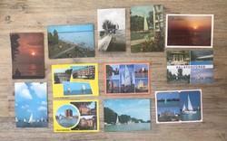 Retro képeslapok a Balatonról, vitorlásokról stb.