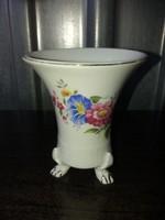 Oroszlánlábas Hollóházi Porcelán Váza