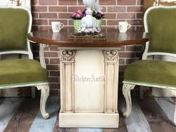 Vintage, Provence antikolt kerek asztal.