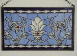 Szecessziós-art nouveau Fali üveg díszítő panel