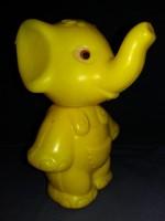 Régi DMSZ  trafikáru műanyag  játék forgós fejű elefánt  figura