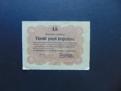 15 krajcár 1849 Kossuth bankó !