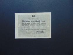 30 krajcár 1849 Kossuth bankó