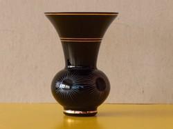 Különleges üveg váza, fekete, hibátlan