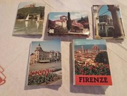 Régi 5 db leporelló minikönyv , miniatűr fotóalbum+ 6 db Sweiz-i képet tartalmazó boríték 1963-ból